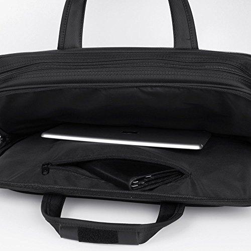 KOPACK Expandable Laptop Briefcase 17 17.3 Inch Large Business Water Resistant Shoulder Computer Bags Black by kopack (Image #8)
