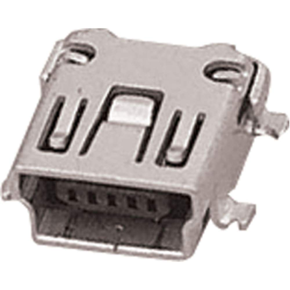 FCI Right Angle Surface Mount Mount Female Type B USB Connector, Pack of 100