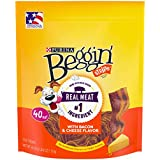 Purina Beggin' Made in USA Facilities Dog Treats; Strips Bacon & Cheese Flavors - 40 oz. Pouch