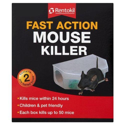 Rentokil Fast Action Mouse Killer 2 Pre-Baited Boxes