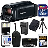 Canon Vixia HF R82 32GB Wi-Fi 1080p HD Video Camera Camcorder with 32GB Card + Battery & Charger + Case + 3 Filters + LED Light + Tripod Kit