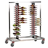 Plate-Mate PM120-170 Stainless Steel 120 Plates Twin Model Mobile Catering Rack, 800 lbs Capacity, 57-1/2'' Height