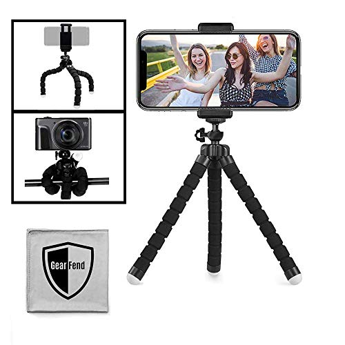 """GearFend 6.5"""" Flexible Universal Tripod, Smartphone Tripod Mount Compatible with All iPhones, Samsung Phones and Most…"""