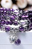 Generic Amethyst beads bracelet multi-turn zodiac animal year men and women bracelets Japan and South Korea jewelry birthday gift