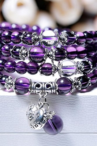 Generic Amethyst beads bracelet multi-turn zodiac animal year men and women bracelets Japan and South Korea jewelry birthday gift by Generic (Image #4)