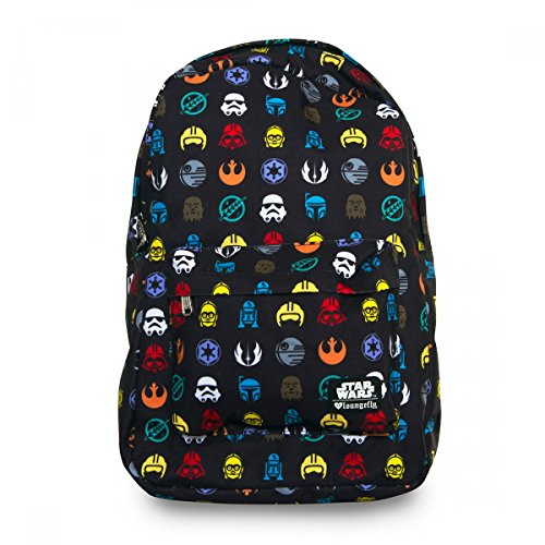 Loungefly Star Wars Multi Symbol Print Laptop Backpack (Multi - Rucksack Starwars
