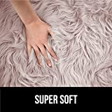 Gorilla Grip Premium Faux Fur Area Rug, 4x6, Fluffy