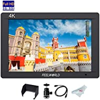 Feelworld FW703 7 inch 3G-SDI On Camera Monitor with 4K HDMI Input/Output Loop-out, Full HD Field Monitor for Professional Camcorder DSLR with Histogram Focus Zebra False Colors