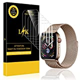 (6 Pack) LK Screen Protector for Apple Watch 44mm Series 5/4 Max Coverage Flexible Clear Film Anti-Scratch Bubble Free