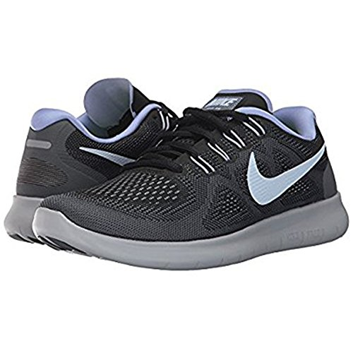 Nike Womens Free Rn 2017 Scarpa Da Corsa Nero / Idrogeno Blu-grigio Scuro