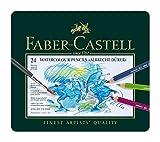 Faber-Castel FC117524 Albrecht Durer Artist Watercolor Pencils In A Tin (24 Pack), Assorted (Office Product)