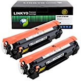 LINKYO Compatible Toner Cartridge Replacement for HP 83A CF283A (Black, 2-Pack)