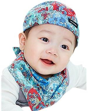 Baby Skull Cap Beanie And Bandana Bib Set Cotton Bandana Cap For Newborn Baby Infant Toddler