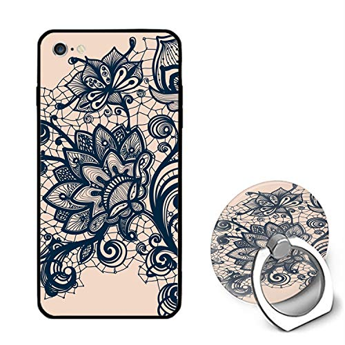 Elegant Flower iPhone 6S Case/iPhone 6 Case, Ultra Thin iPhone Case with Ring Stand Anti-Scratch Defender Case Compatible for iPhone 6/6S