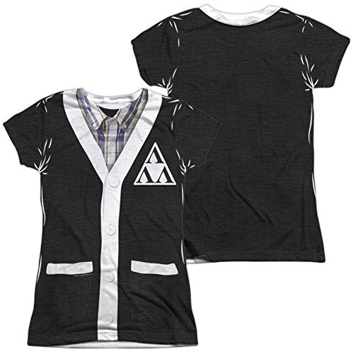 Tri Lambda Costume (Juniors: Revenge Of The Ners- Tri-Lambda Cardigan Costume Tee (Front/Back) Juniors (Slim) T-Shirt Size S)
