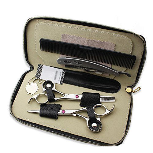 Barber Salon Hair Cutting Tools Set with Case (Pink) - 6