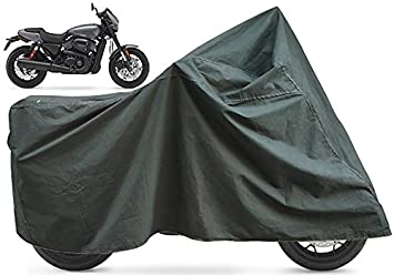 Harley Davidson Bike Covers >> Fcs Canvas Tarpaulin All Weather Protection Dust Proof Bike Cover Body Cover For Harley Davidson Street Rod Olive Green