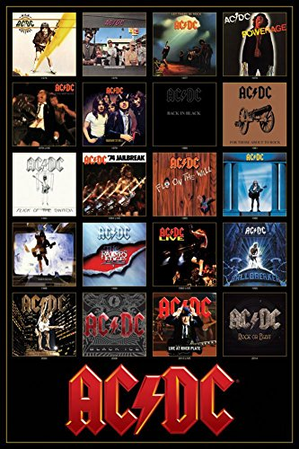 AC/DC Discography Poster 24 x 36in