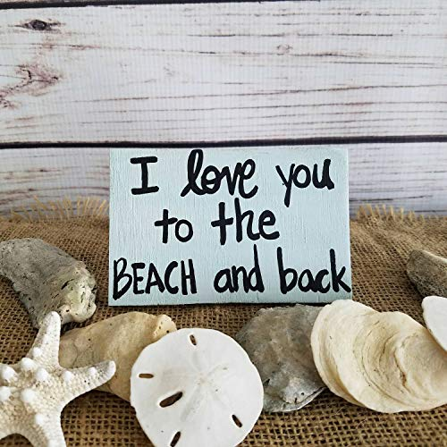 MarthaFox Beach Magnet Coastal Decor I Love You to The Beach and Back Beach Decor Beach Gift Wooden Magnets Custom Hand Painted Magnets