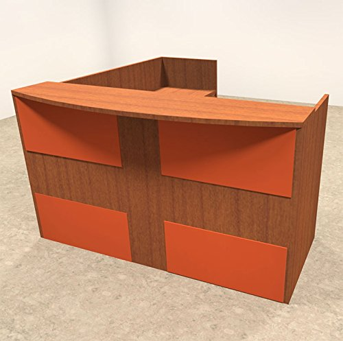 3pc L Shaped Modern Acrylic Panel Office Reception Desk, #OT-SUL-RO33 by UTM
