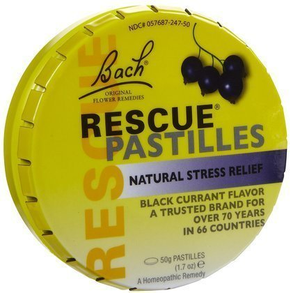 Bach Rescue Remedy Pastilles Black Currant, 1.7 oz (2 Pack) by Bach