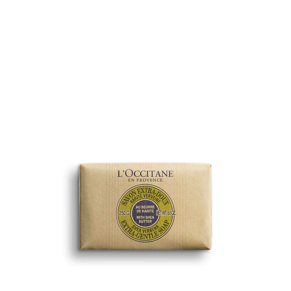 L'Occitane Extra-Gentle Vegetable Based Soap Enriched with Shea Butter - Verbena, Net Wt. 8.8 oz. by L'Occitane