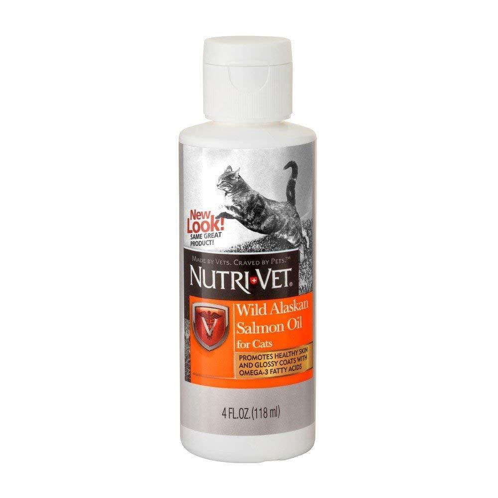 Nutri-Vet Wild Alaskan Salmon Oil for Cats, 4-Ounce(Set of 2) by Nutri-Vet Wellness