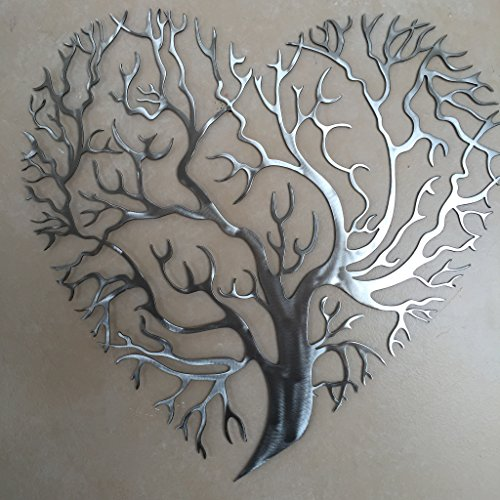 Metal Art of Wisconsin Heart Shaped Tree of Life Metal Art