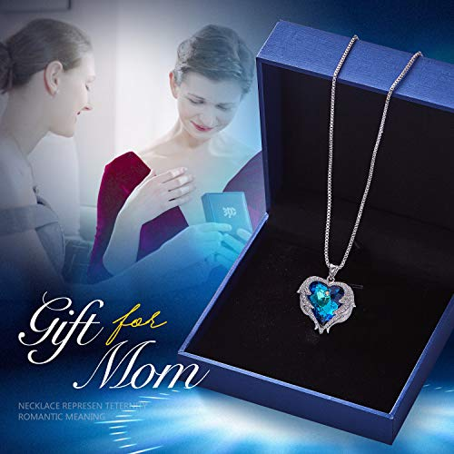 7b7f077ff CDE Angel Wing Mothers Day Necklaces for Women Embellished with Crystals  from Swarovski Pendant Necklace Heart of Ocean Jewelry Gift for Mom