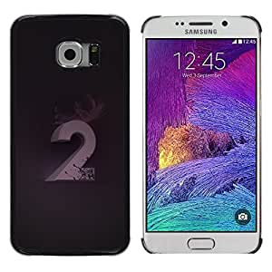 LECELL--Funda protectora / Cubierta / Piel For Samsung Galaxy S6 EDGE SM-G925 -- 2 Number Second Purple Black --