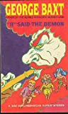 I! Said the Demon, George Baxt, 0930330579