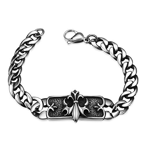 ad251dad84c Acxico Men s Stainless Steel Chrome Heart Vintage Chain for sale Delivered  anywhere in USA
