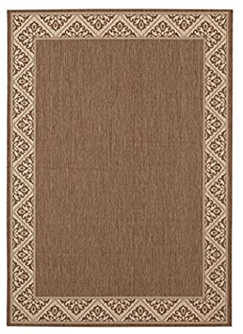 Balta Rugs 30318087.160225.1 Inman Brown Indoor/Outdoor Area Rug, 5' x 8' (Brown Indoor Outdoor Rug)