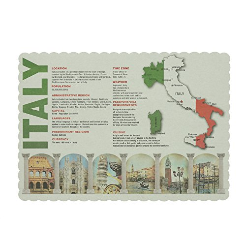 Royal Facts about Italy/Map of Italy Placemats, Package of 1000