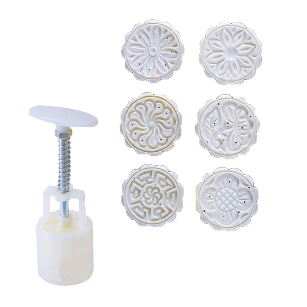 Cake DIY Decoration Style One Cookie Press Cake Stamp Moon Cake Mold with 6 Stamps