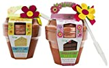 8oz. Bakeable Flower Pot with Confetti Cake Mix