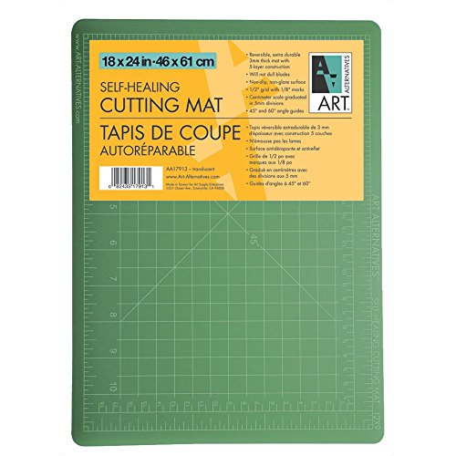 Art Alternative Cutting Mat Green/Black 18X24 by Art Alternatives