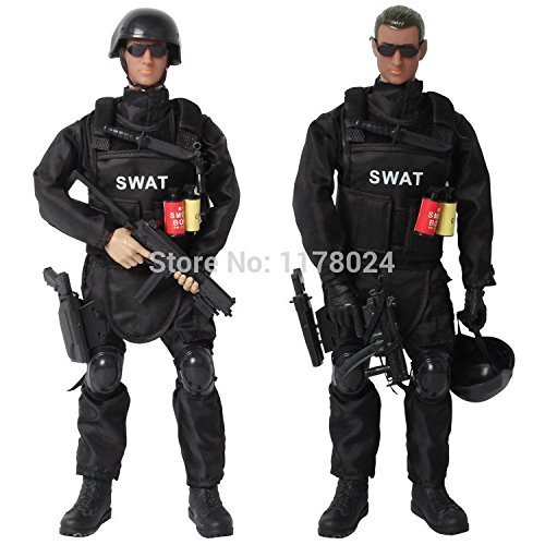 "12"" 1/6 Soldier SWAT Action Figure Model Military Army Soldier Combat Suit Assembly DIY Toys Gift Collection"