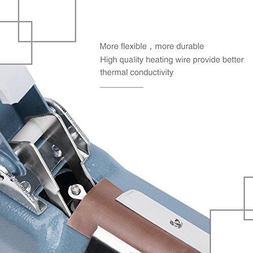 Metronic Impulse Bag Sealer Poly Bag Sealing Machine Heat Seal Closer with Repair Kit (8 inch) by METRONIC (Image #4)