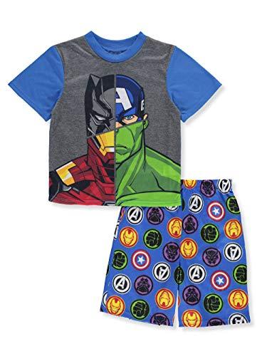Marvel Boys' Little Avengers 2-Piece Pajama Set, Blue, 4 ()