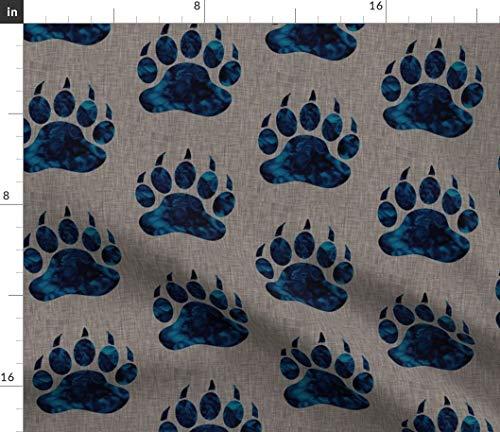 Bear Paw Fabric - Bear Claw Batik Navy Texture Sugarpinedesign Print on Fabric by The Yard - Sport Lycra for Swimwear Performance Leggings Apparel Fashion