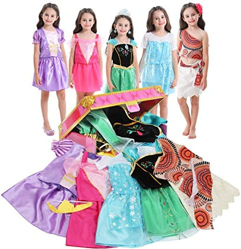 VGOFUN Girls Dress up Trunk Princess Costume Dress Pretend Play Set for Girls Toddlers