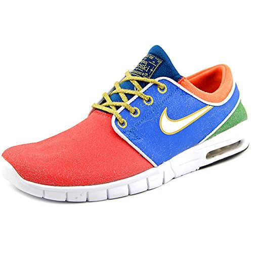 NIKE Mens x Concepts Janoski Max L QS Mosaic Red/Blue-Gold Leather
