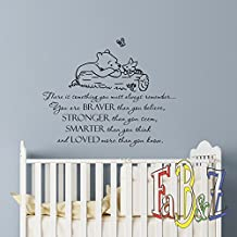 Wall Decal Winnie The Pooh Quote Always Remember You Are Braver Than You  Believe Classic Pooh Part 79