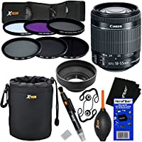 Canon EF-S 18-55mm f/3.5-5.6 IS STM Lens for Canon SLR Cameras (International Version) + ND Filters ND2, ND4, ND8 + 11pc Bundle Deluxe Accessory Kit w/ HeroFiber Cleaning Cloth