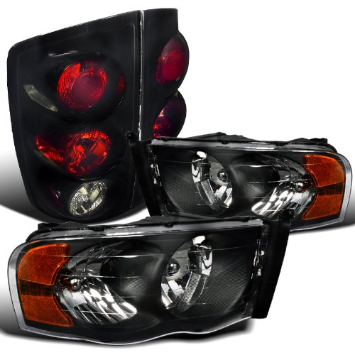 - Spec-D Tuning LT2LH-DGP02JB-RS Headlight Tail Light (Crystal Black Glossy Tint)