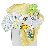 Unisex Baby Gift Basket by Pellatt Cornucopia with Baby Essentials