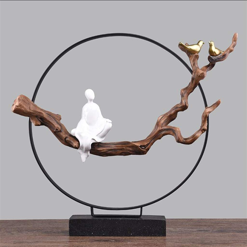 Size : A GHMOZ Escultura Escultura Moderna Estatua Metal Monta/ña Escultura Hierro Escultura Abstracta Adornos for el hogar