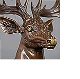 Home Decor sculptures Deer Head Statues Elk Head Figurines for home decor Desk Ornaments statues Elk Head (ELK Brown Large)