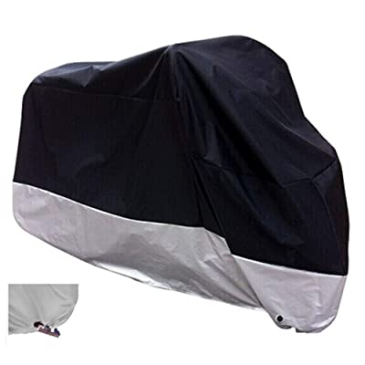 "XYZCTEM All Season Black Waterproof Sun Motorcycle Cover,Fits up to 108"" Motors (XX Large & Lockholes): Automotive"